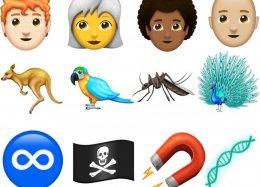157 novos emojis serão liberados em 2018; lista inclui careca, cabelo crespo e mosquito.