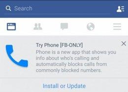 Facebook prepara discador com identificador de chamadas para Android.