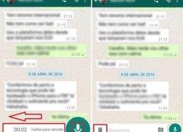 WhatsApp: saiba como cancelar uma mensagem de voz.