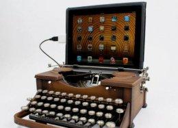 Kit transforma máquina de escrever em teclado USB.