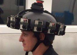 Startup cria protótipo de capacete que permite produzir vídeos em 360°.
