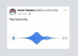 Facebook testa posts em áudio na timeline