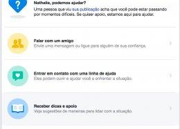 Facebook lança ferramenta de prevenção do suicídio junto a CVV