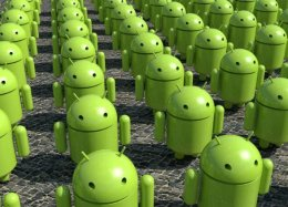 Android domina mais de 80% do mercado internacional de smartphones.