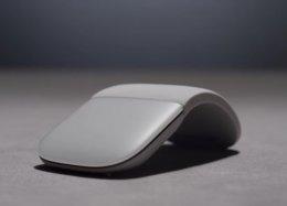 Microsoft lança mouse Surface que pode ser deixado reto para transporte.