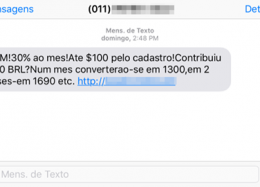Como denunciar o spam recebido por SMS?
