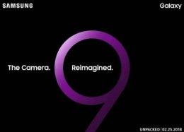 Samsung oficializa: Galaxy S9 será revelado no dia 25 de fevereiro
