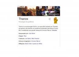 Thanos destrói resultados do Google em brincadeira escondida no buscador.