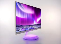 Novo monitor da Philips tem 27 polegadas e reproduz luzes da tela na base