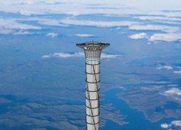 Empresa planeja elevador que abre atalho para o espaço.
