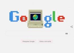 Doodle do Google celebra os 30 anos da Web.