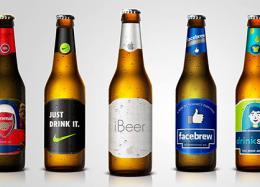 Marcas viram rótulos de cervejas.