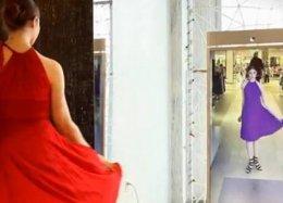 Empresa desenvolve espelho inteligente para lojas de roupa.
