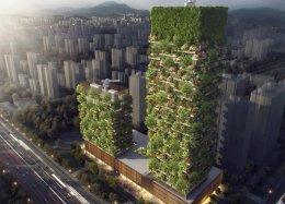Cidade chinesa ganhará duas florestas verticais para despoluir o ar.