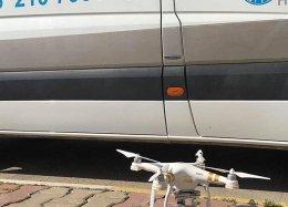 Drone ganha de ambulância na corrida para prestar primeiros socorros.