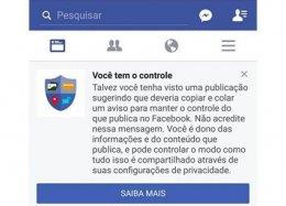 Facebook pede que usuários não acreditem no boato do 'copie e cole no mural'