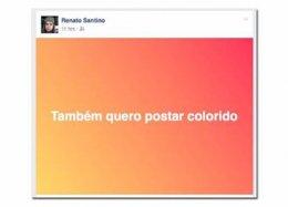 Facebook passa a permitir posts com fundo colorido.